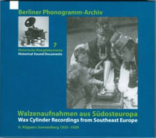Wax Cylinder Recordings from Southern Europe (1935-1939) CD 25159